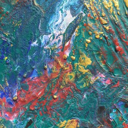 Fossile coloré